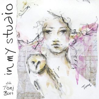 in my studio girl with owl